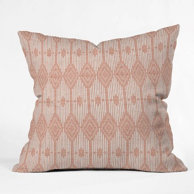 20 X20 Heather Dutton West End Blush Square Throw Pillow Pink