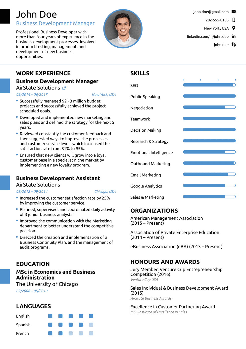 Cv Template Novoresume Resume format examples, Simple