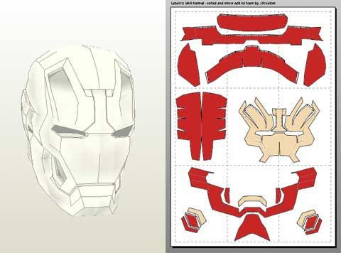 Cold foam for prosthetic work suggestions from the for Iron man face mask template
