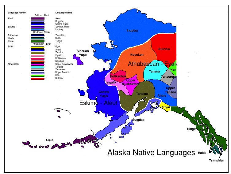 Map of Alaska Native Languages Cultures and Clothes