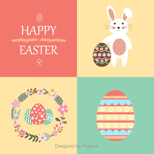Happy Easter And Lovely Background Material Easter Happy Easter Rabbit Background Png And Vector With Transparent Background For Free Download Easter Graphics Easter Backgrounds Happy Easter