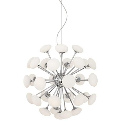 Decordova chrome 21 12 wide glass led chandelier modern add a refreshing accent to your decor with this striking sputnik inspired glass chandelier an energy efficient contemporary led chandelier with chrome aloadofball Images