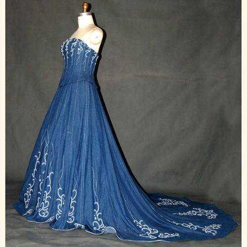 Denim Bridesmaid Dresses Wedding
