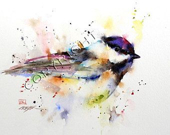 Audubon Christmas Cards 2020 CHICKADEE Watercolor Print Bird Art Painting by Dean | Etsy in