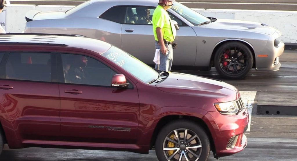 Jeep Trackhawk Vs Challenger Hellcat Drag Race Could Go Either Way