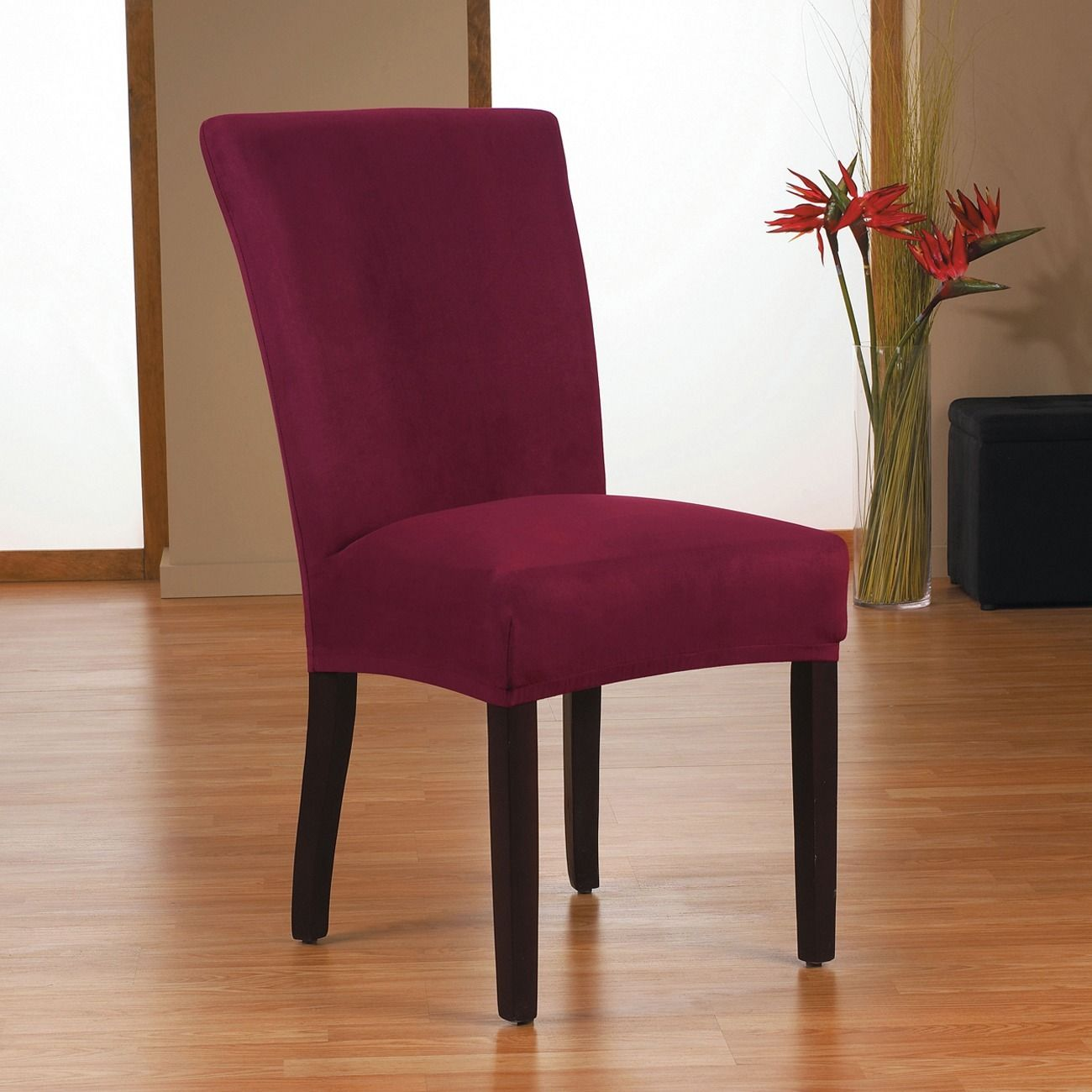Terrific Quickcover Harlow Stretch Dining Chair Slipcover Maroon Machost Co Dining Chair Design Ideas Machostcouk