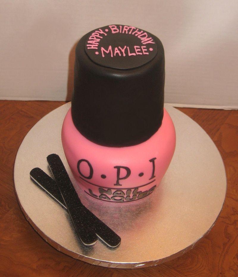 Nail Cake: Nail Polish Bottle Cake Specialty Cakes By Petrina LLC