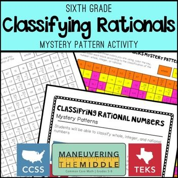 Classifying Rational Numbers Rational Numbers Middle School Math Resources Rational Numbers Activities