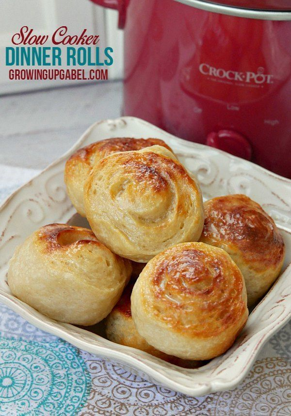 These easy slow cooker bread rolls only call for 1 ingredient! Use a tube of bread dough to bake up dinner rolls or an entire loaf in just under an hour. Have fresh hot bread without ever turning on the oven!