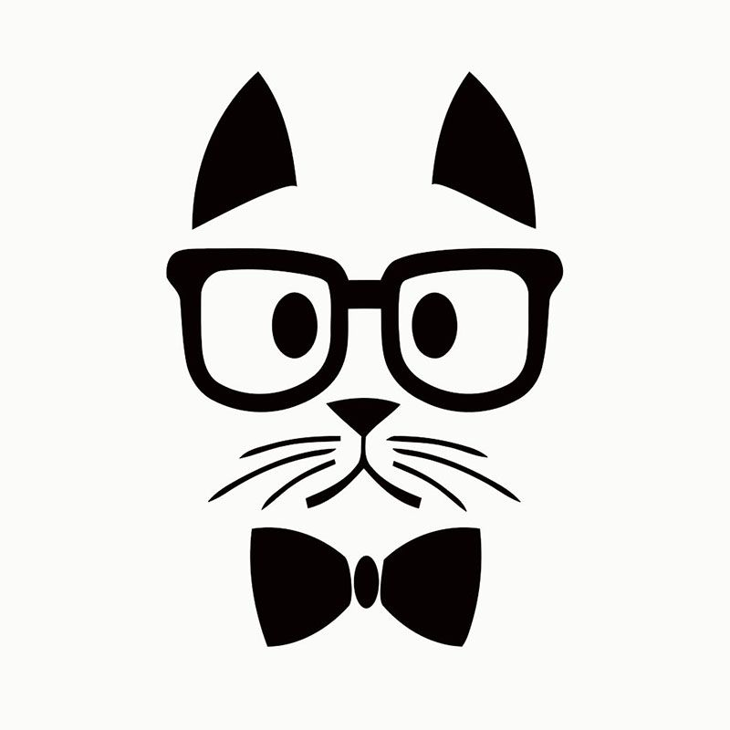 Cm X Cm X Hipster Cat Funny Car Sticker For Cars Side Door - Funny decal stickers for carsbest funny car decales images on pinterest funny cars