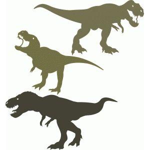 Silhouette Design Store T Rex Dinosaur Set Dinosaur Silhouette Silhouette Design Animal Silhouette
