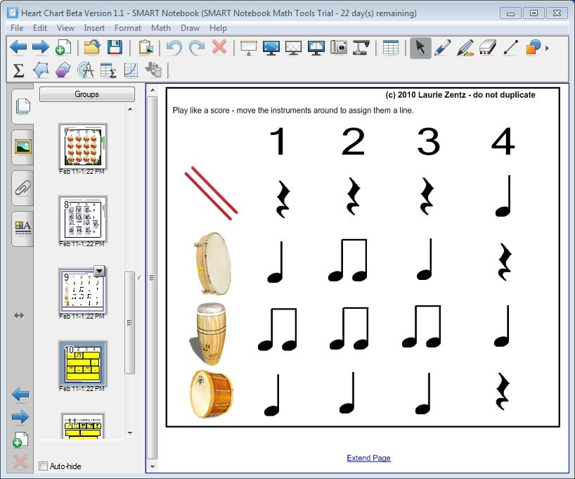 Heart Chart For Smartboard A Innovative Way Of Teaching Beats And Rhythms The Whiteboard