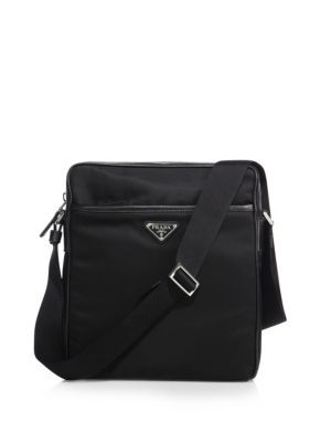 4aaf26af6a83bc PRADA Nylon Messenger Bag With Leather Trim. #prada #bags #shoulder bags # leather #nylon #lining #