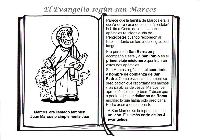 Evangelio De Marcos Evangelio Evangelio Catolico Catequesis