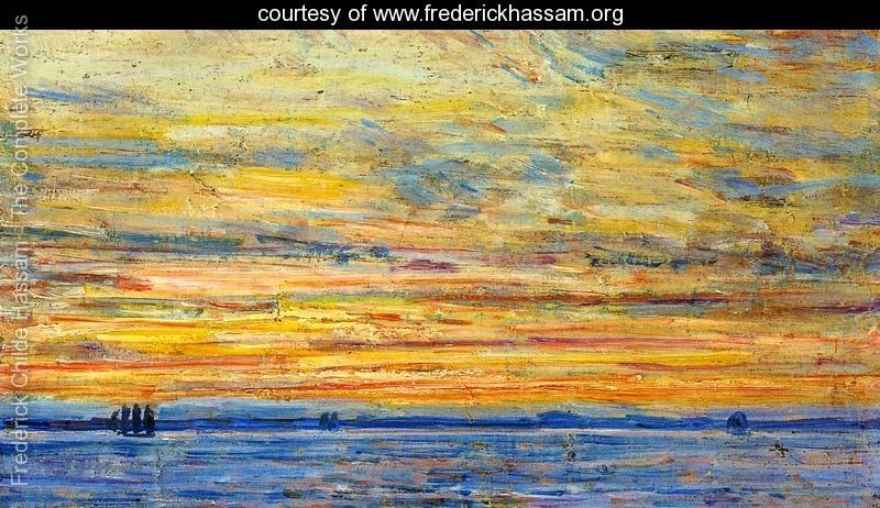 Evening - Frederick Childe Hassam -