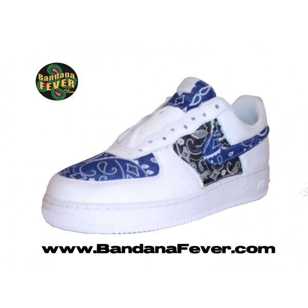Bandana Fever Custom Bandana Nike Air Force 1 Low White Duo Bandana... ❤