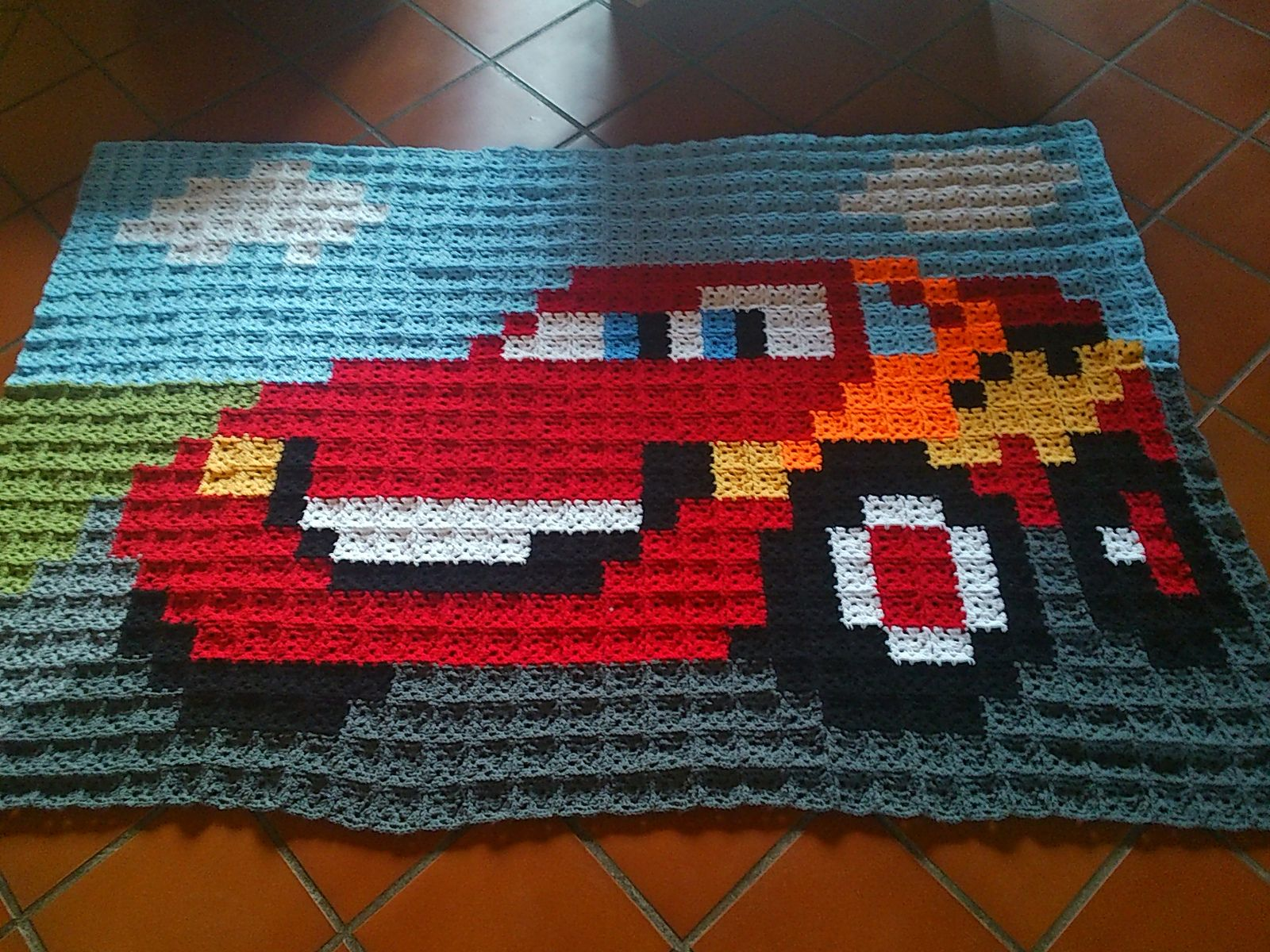 Ravelry Herlinde70 S 21 Blanket Cars Mcqueen Crochet Car Pixel Crochet Blanket Crochet Car Seat Cover