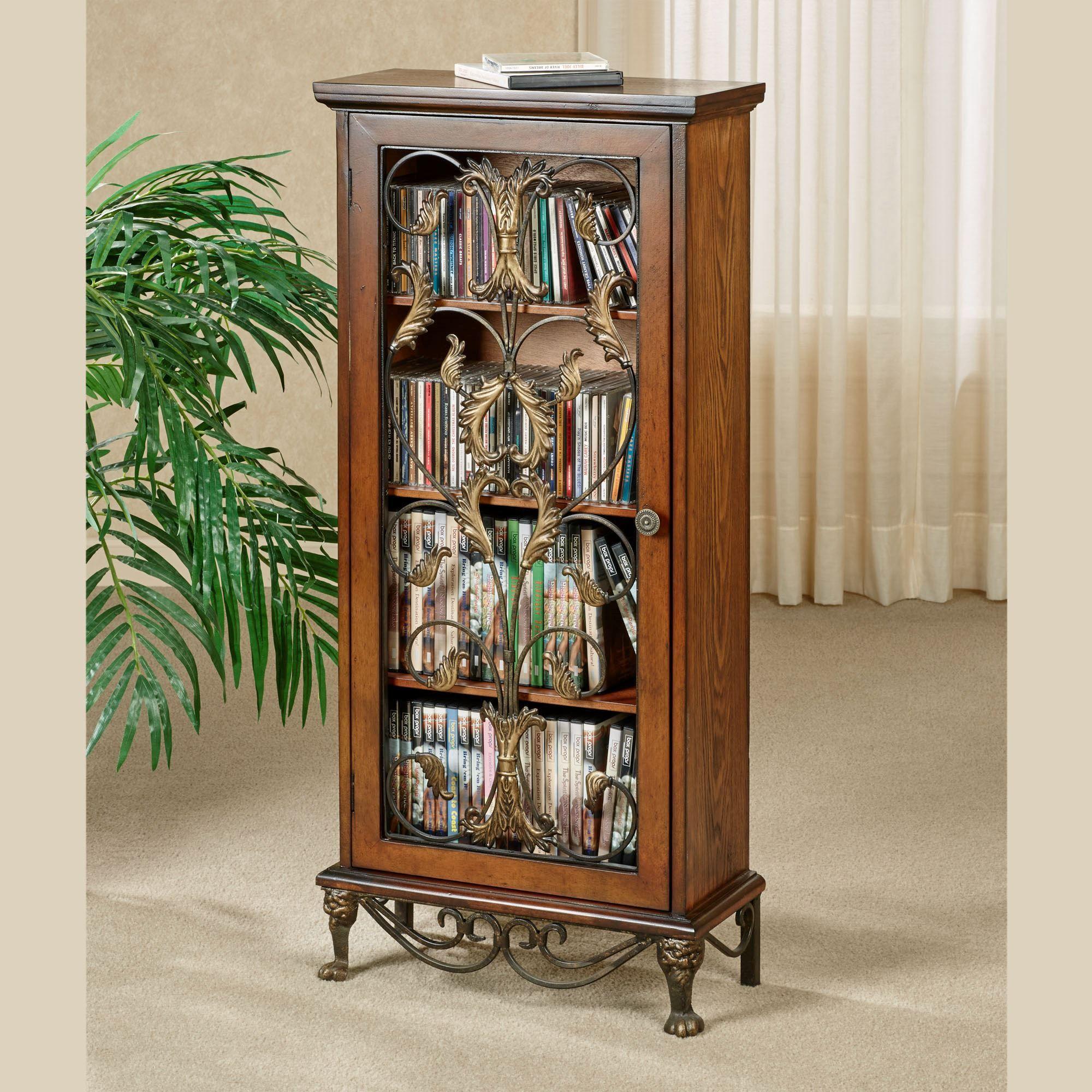 Caydena Dvd And Cd Storage Cabinet