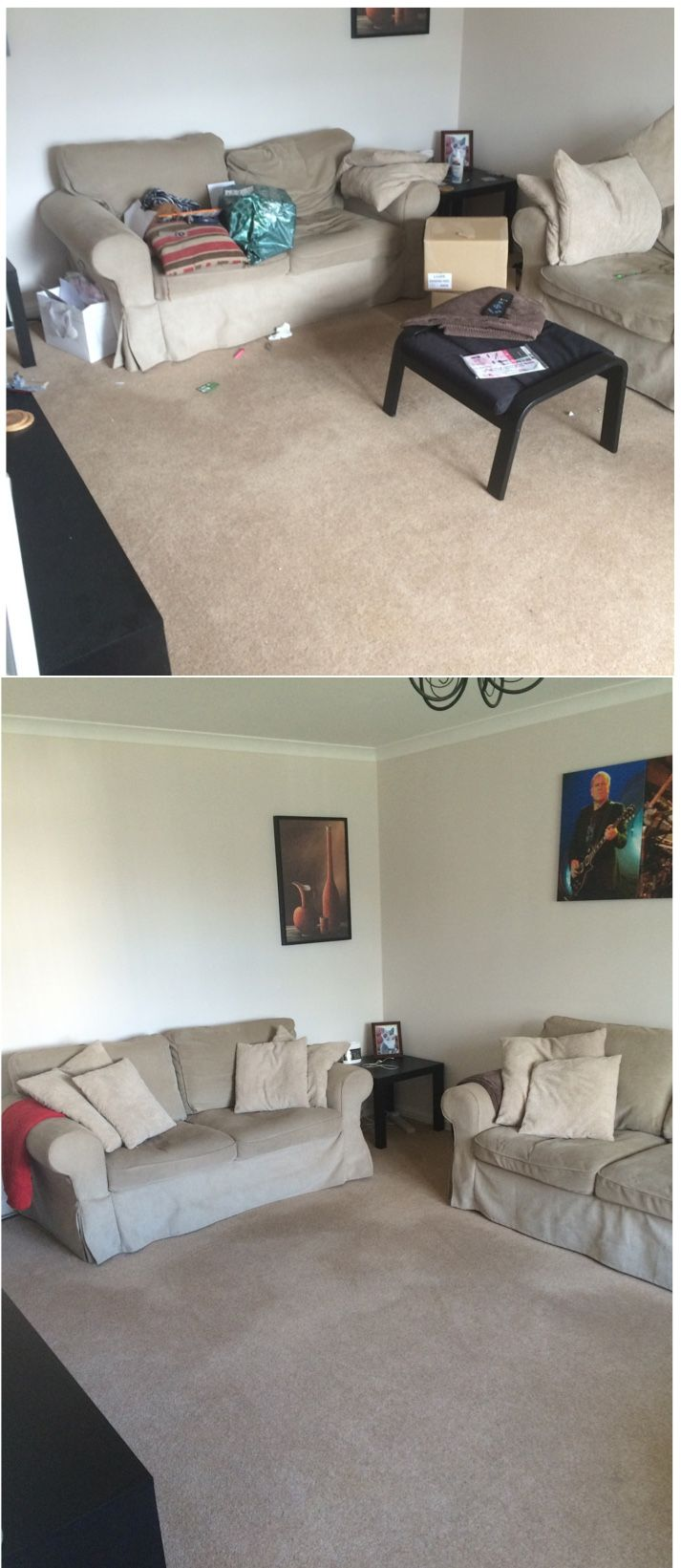 Living Room Declutter   Before U0026 After