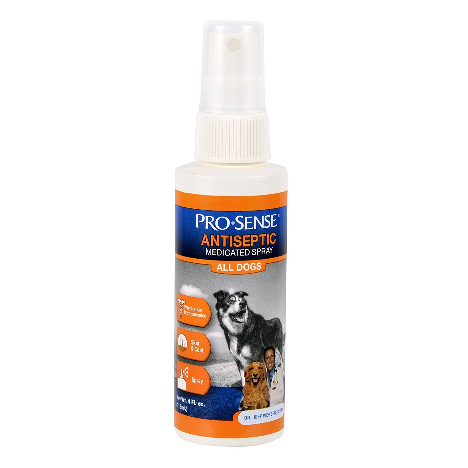 Pro-Sense Antiseptic Medicated Spray, 4-Ounce (P-82651) ** To view further, visit now : Dog Health Supplies