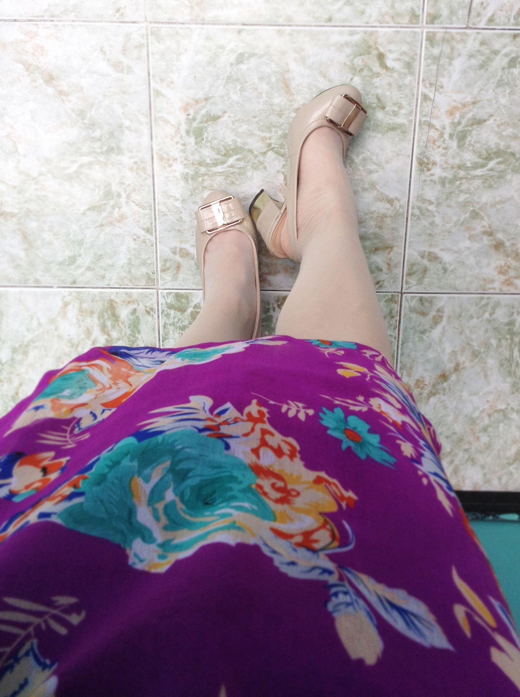 Nude old-fashion Shoes / Zapatos color piel con Media velada color Habano