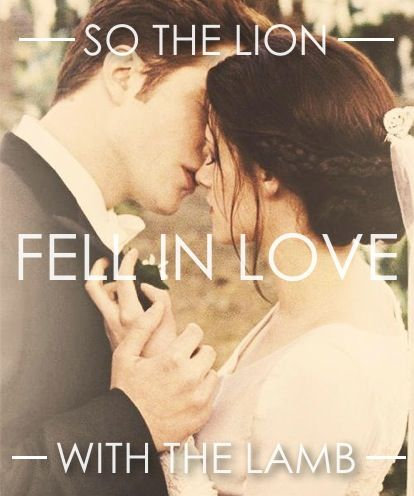 The lion fell in love with the lamb
