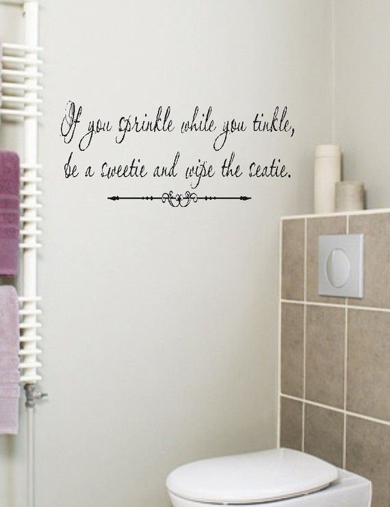 If You Sprinkle Bathroom Quote Wall Decal Words By Landbgraphics