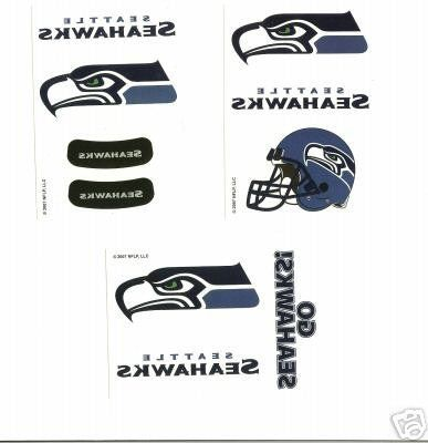 NFL Seattle Seahawk Temporary Tattoos - Pack of 3 Sheets by aaglobal. $8.99