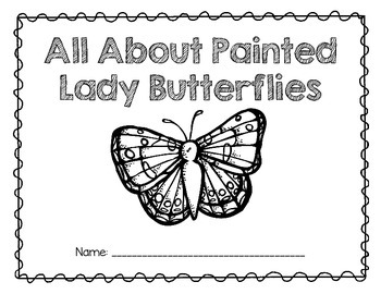 Painted Lady Butterflies A Research And Writing Unit Butterfly