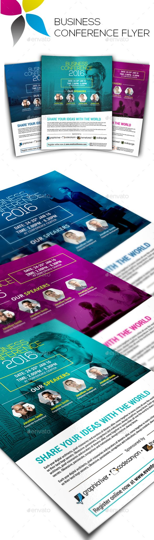 Business Conference Flyer  Flyer Design Templates Flyer Template
