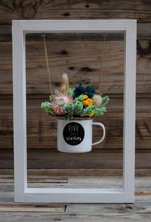 Columpio de flores preservadas y secas vive tus sue os taza maceta flores en maceta - Plantas secas decoracion ...