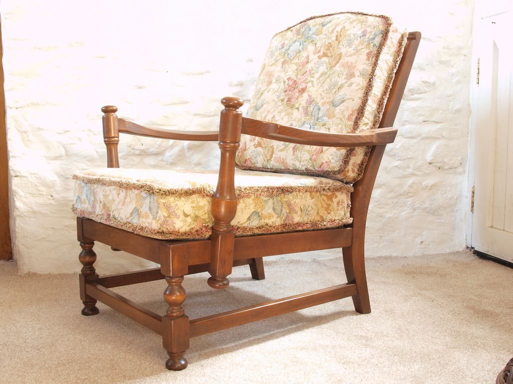 Antique easy chair - Ercol Old Colonial Upholstered Easy Chair