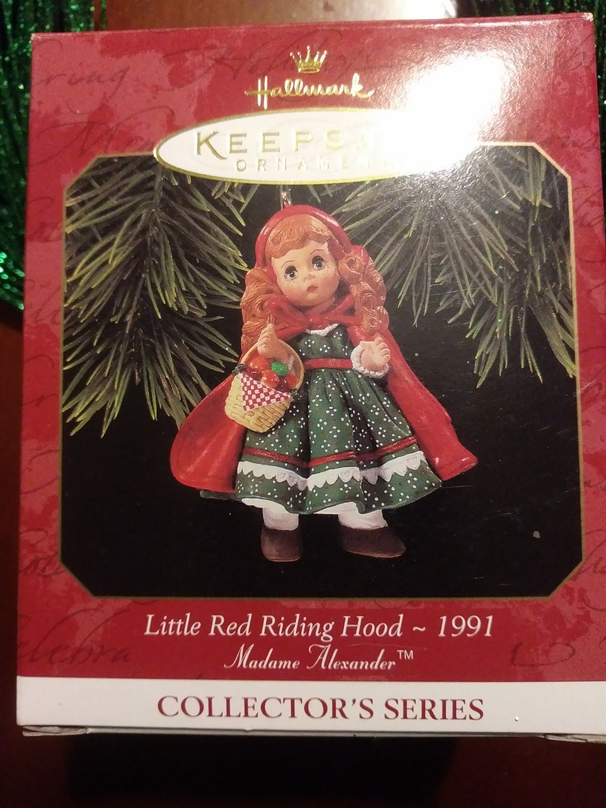 Hallmark Mint 1991 Little Red Riding Hood Christmas Ornament This