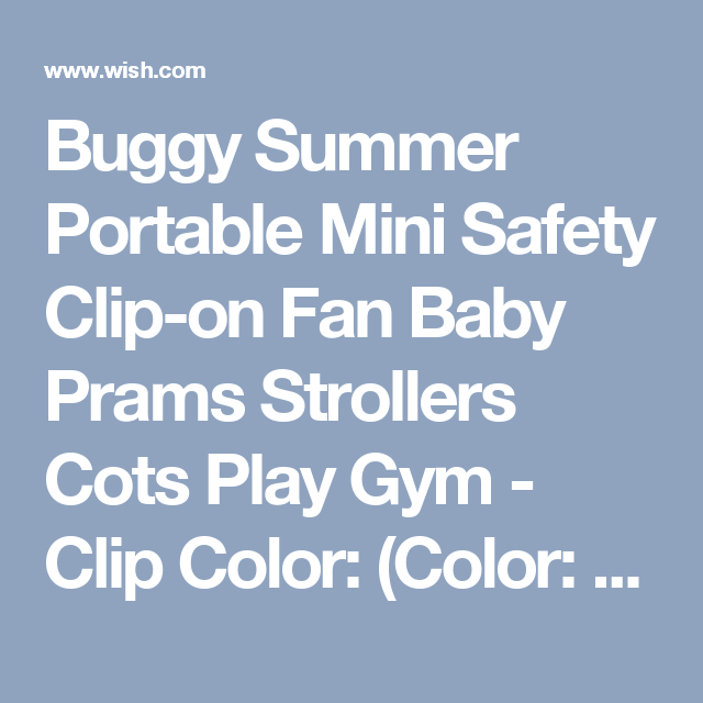 Buggy Summer Portable Mini Safety Clip-on Fan Baby Prams Strollers Cots Play Gym - Clip Color: (Color: Blue)