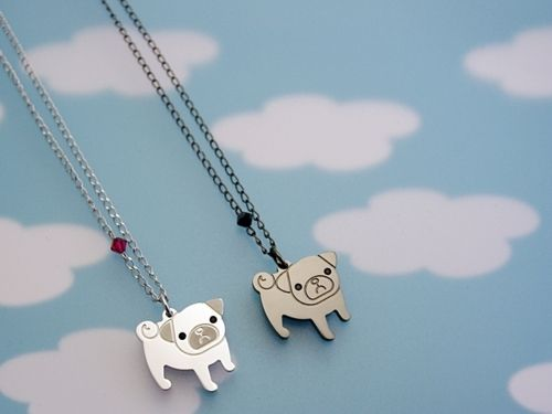 Pug necklaces. NEED IT!