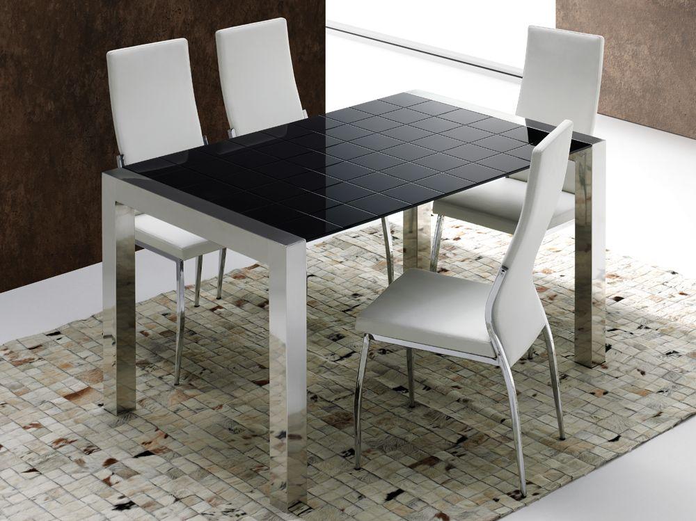 Mesa fabricada en acero inoxidable acabado mate, con encimera en ...