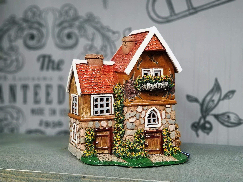 Original Handmade Ceramic Miniature Fantasy House Decor Gifts Etsy Handmade Ceramics Home Candles House Candle Holder