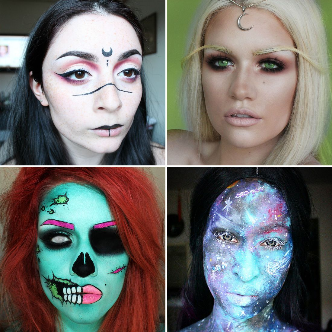 26 stunning supernatural makeup looks for halloween - Stunning Halloween Costumes