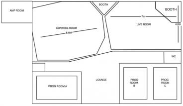 123 recording studios floor plan dimensions size. Interior Design Ideas. Home Design Ideas