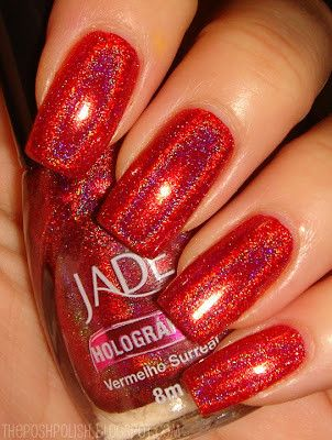 jade holographics vermelho surreal