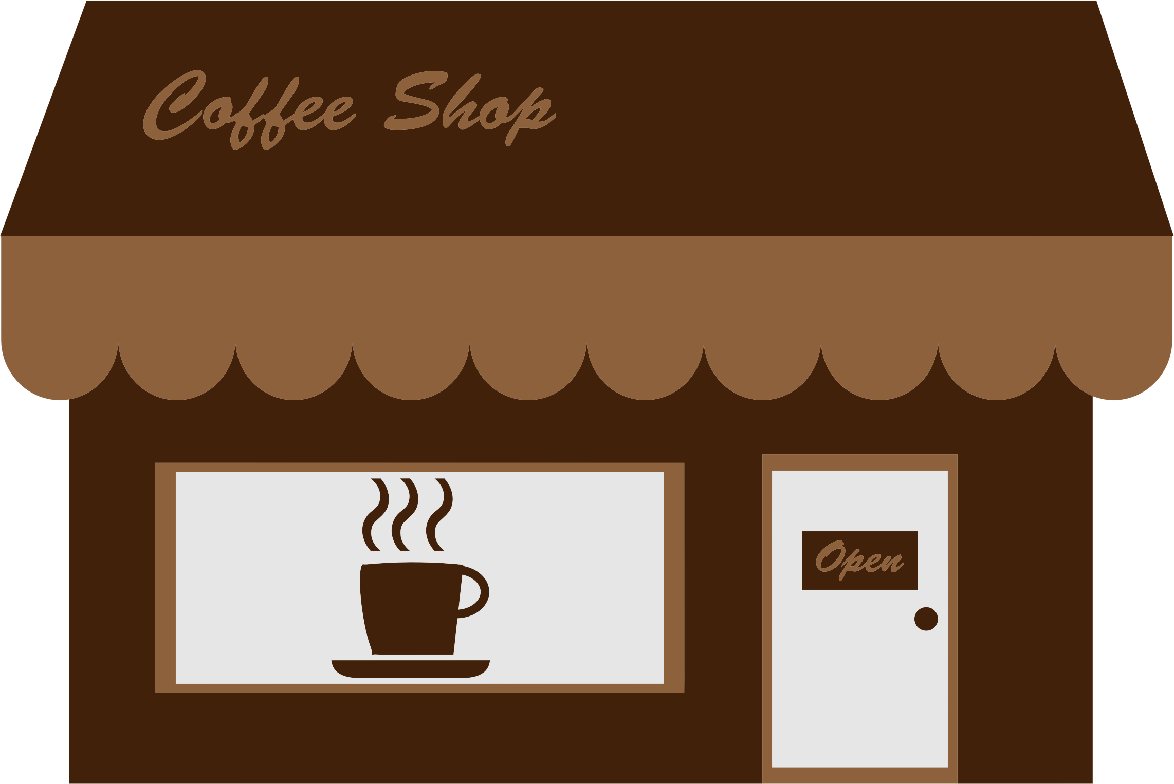 Clipart Coffee Shop Storefront Coffee shop, Starting a