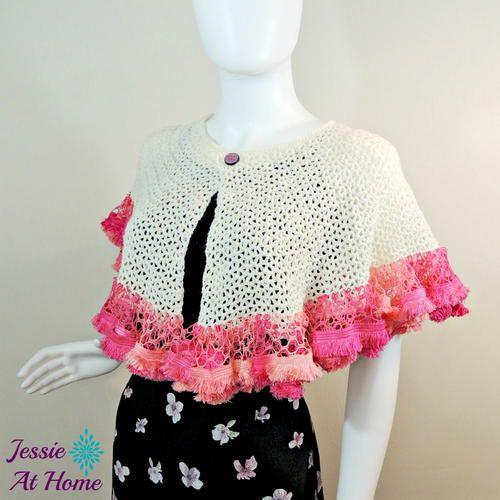 Winter White Sashay Capelet   Crochet for the Neck & Shoulders ...