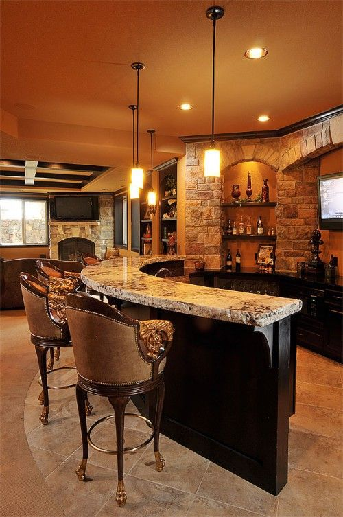 Beautiful Ideas for Basement Bar