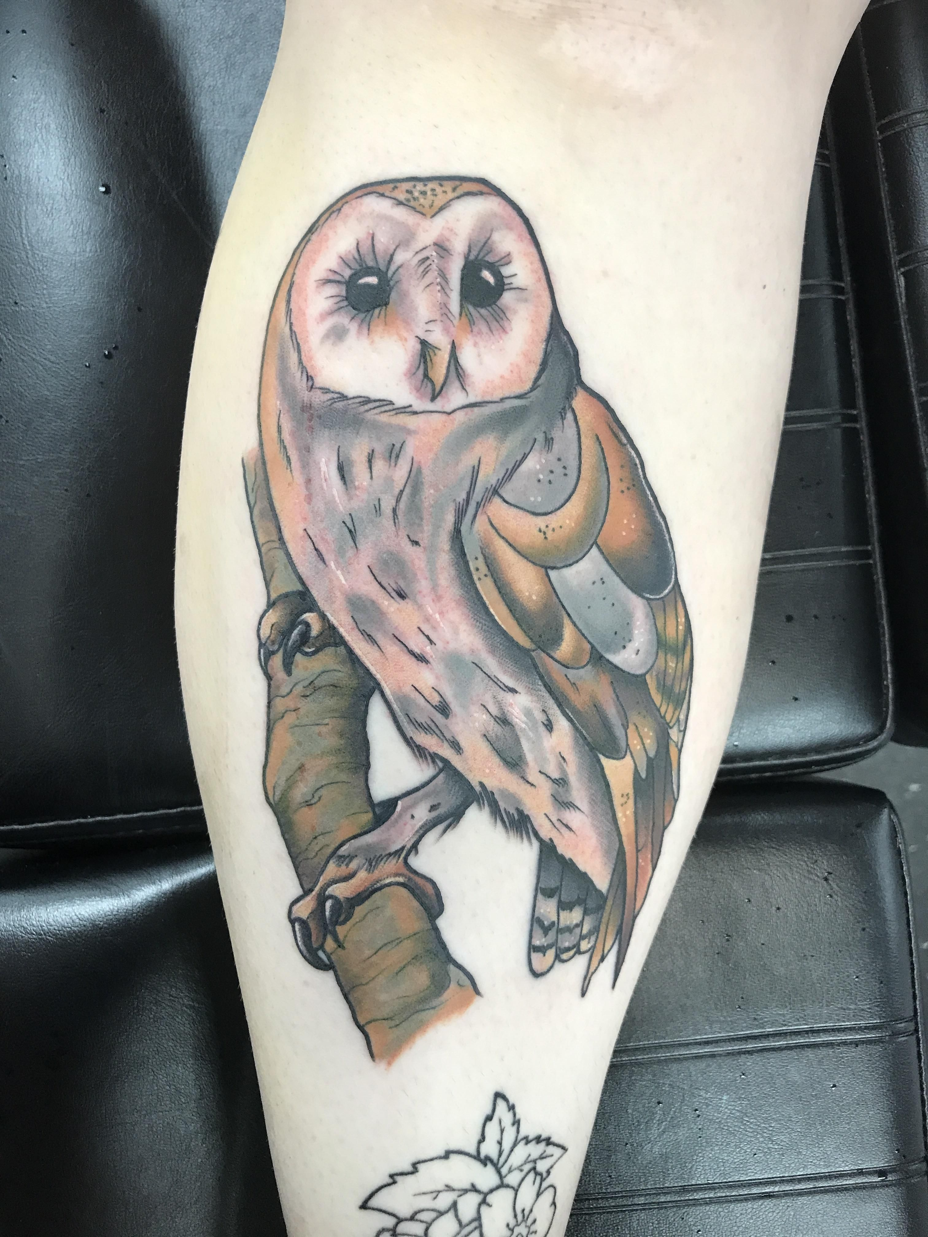 Barn Owl by Kyle Ghost at Drop of Ink Tattoo in