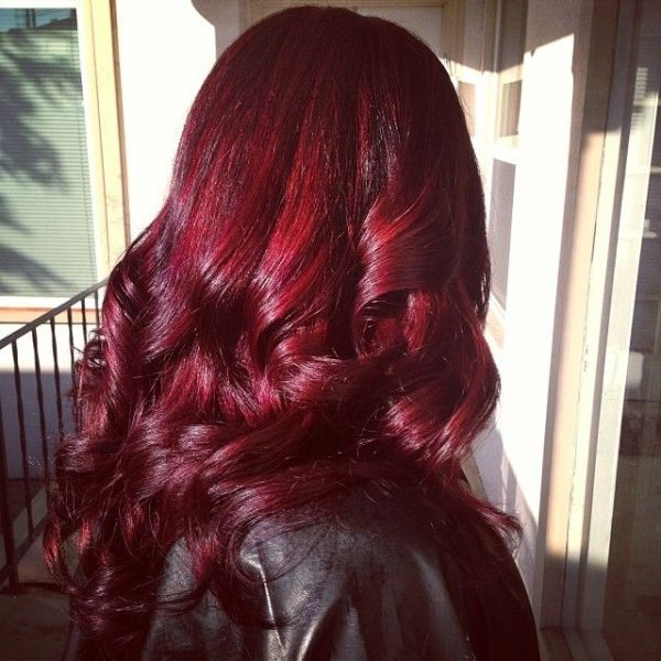 Unique Red Color for Dark Hair