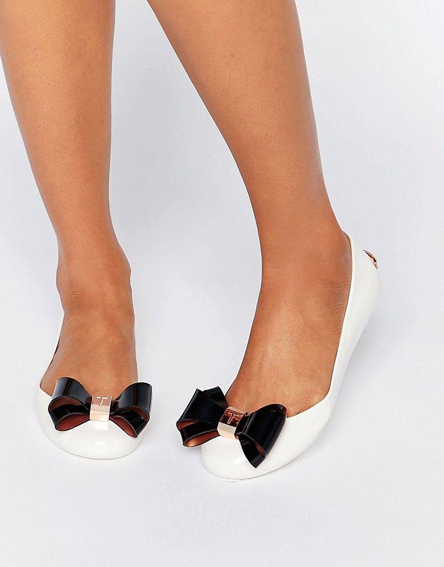 6d61c3063d TED BAKER JULIVIA BOW CREAM BALLET FLAT SHOES - CREAM. #tedbaker ...