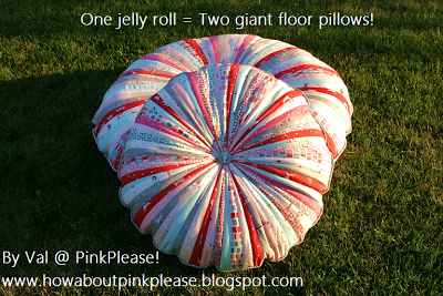 Rollo de la jalea Floor PillowsTutorial on the Moda Bake Shop. http://www.modabakeshop.com