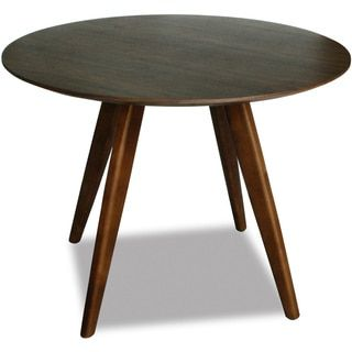 Shop for Aurelle Home Sole Round Walnut Mid century Style Dining
