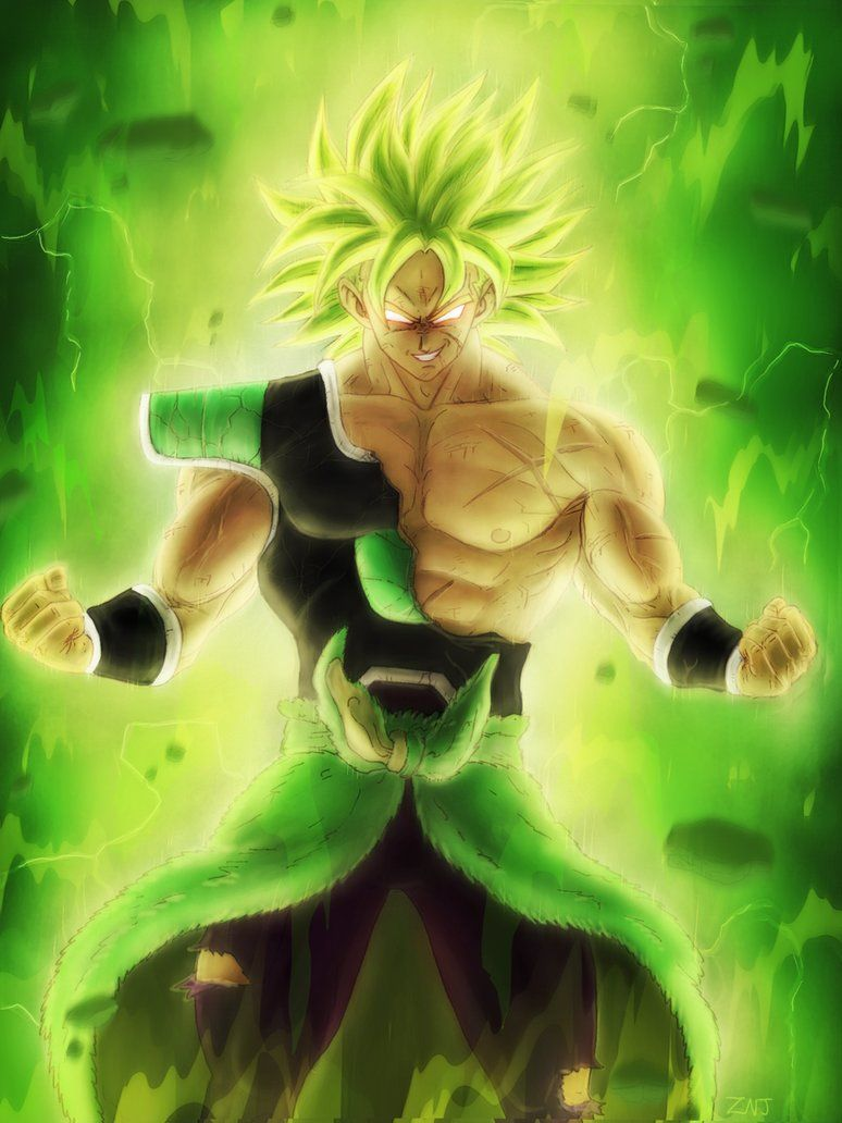 Broly The Legendary Super Saiyan By Zachjacobs Dragon Ball - Skins para minecraft pe broly