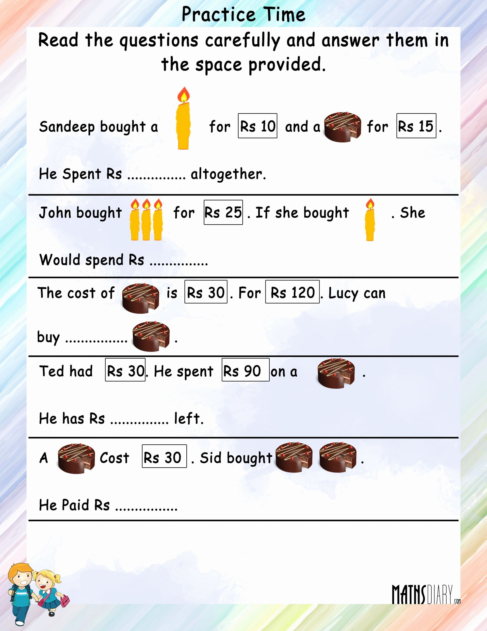 Worksheet Math For Grade 2 In